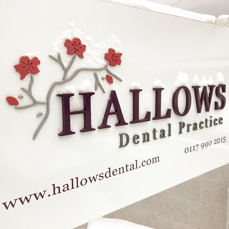 Hallows Dental Practice Sign