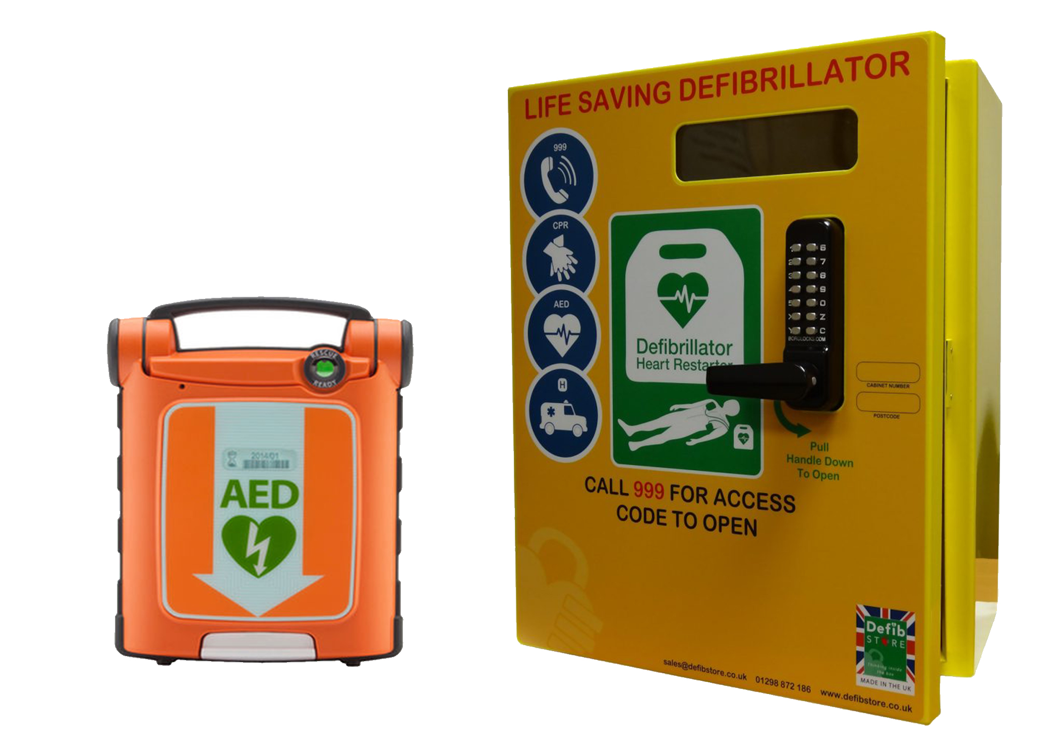 defib and cabinet DefibStore